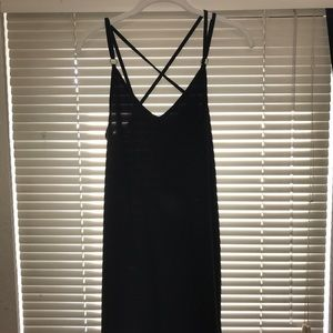 Black strappy dress from top shop